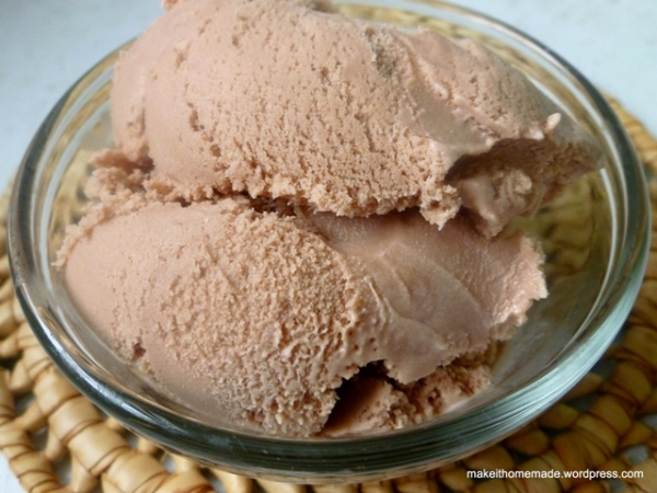 Homemade Chocolate Ice Cream (No eggs)