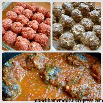meatball collage